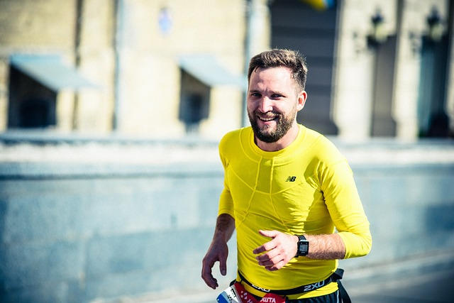 usměvavý běžec