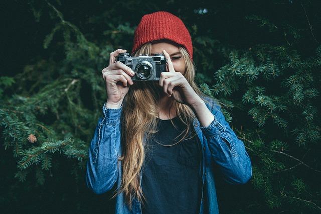 blondýna s foťákem