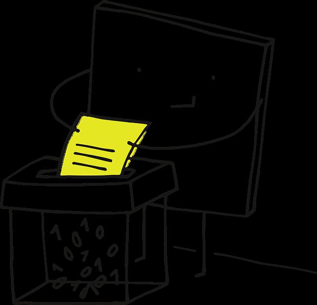 ilustrace skartování